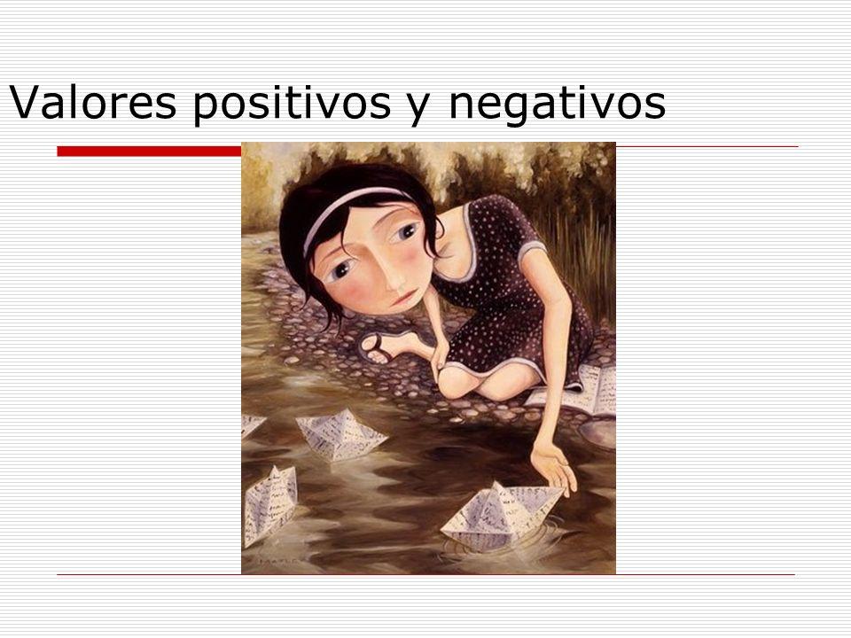 Valores positivos y negativos