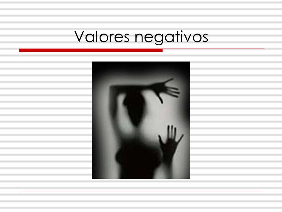 Valores negativos