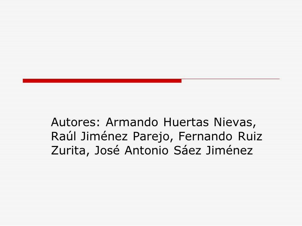 Autores: Armando Huertas Nievas, Raúl Jiménez Parejo, Fernando Ruiz Zurita, José Antonio Sáez Jiménez