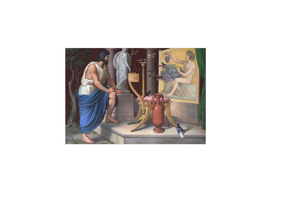 Se contaba también la fábula - repetida hasta la saciedad durante el Renacimiento- de que para representar a Helena de Troya en su Helena rogó a las cinco doncellas más bellas de la ciudad de Crotona que le permitieran pintar lo más bello de cada una de ellas.
