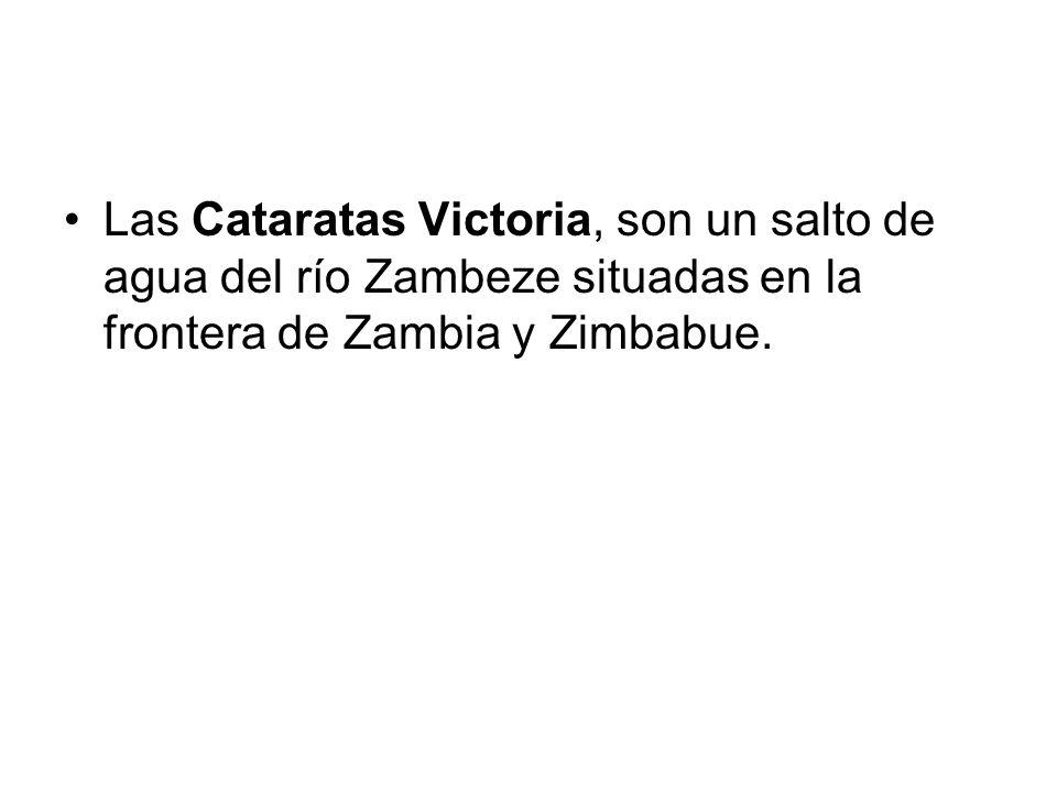 Las Cataratas Victoria, son un salto de agua del río Zambeze situadas en la frontera de Zambia y Zimbabue.