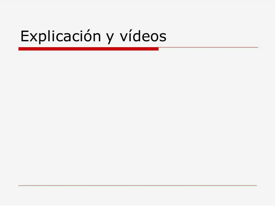 Explicación y vídeos