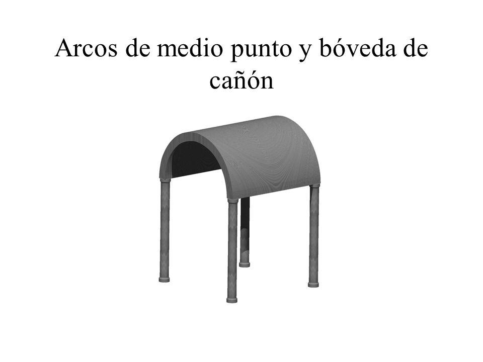 Arcos de medio punto y bóveda de cañón