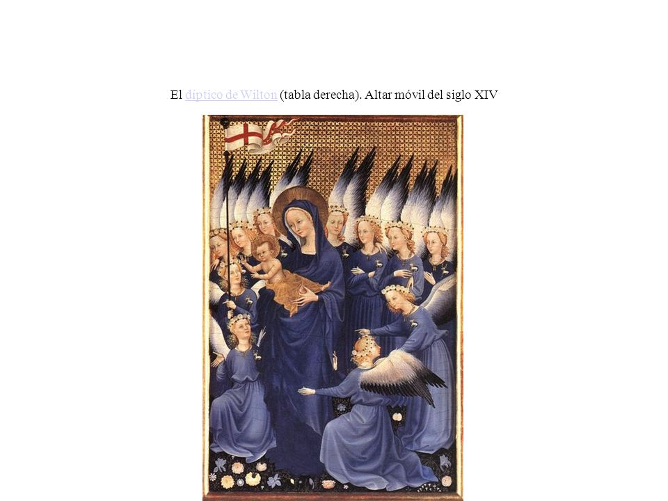 El díptico de Wilton (tabla derecha). Altar móvil del siglo XIVdíptico de Wilton