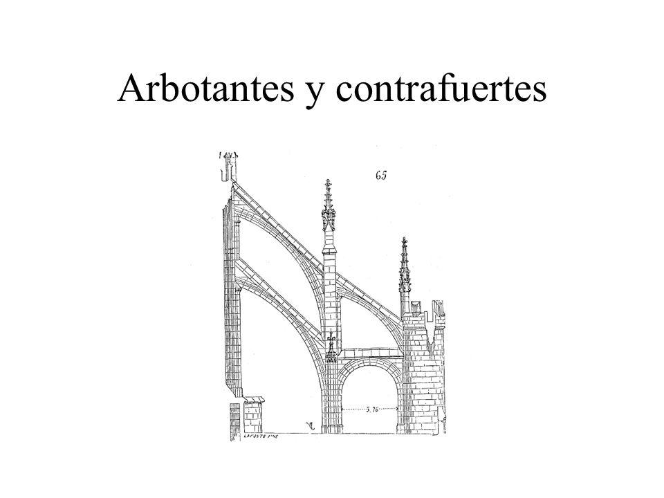 Arbotantes y contrafuertes