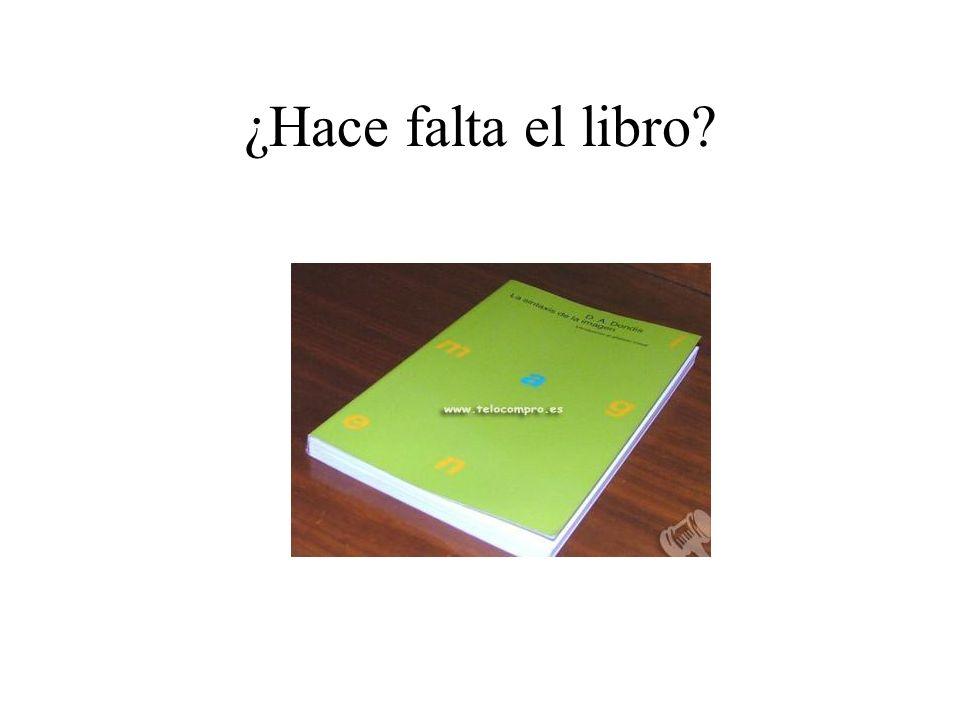 ¿Hace falta el libro