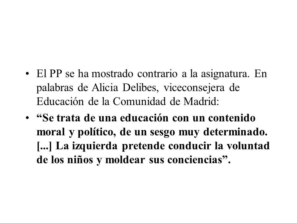 El PP se ha mostrado contrario a la asignatura.