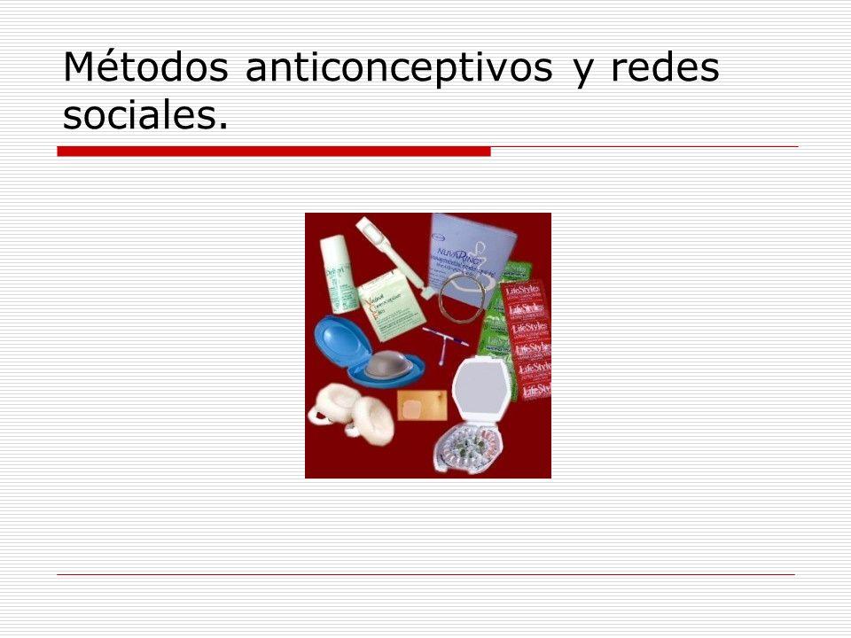 Métodos anticonceptivos y redes sociales.