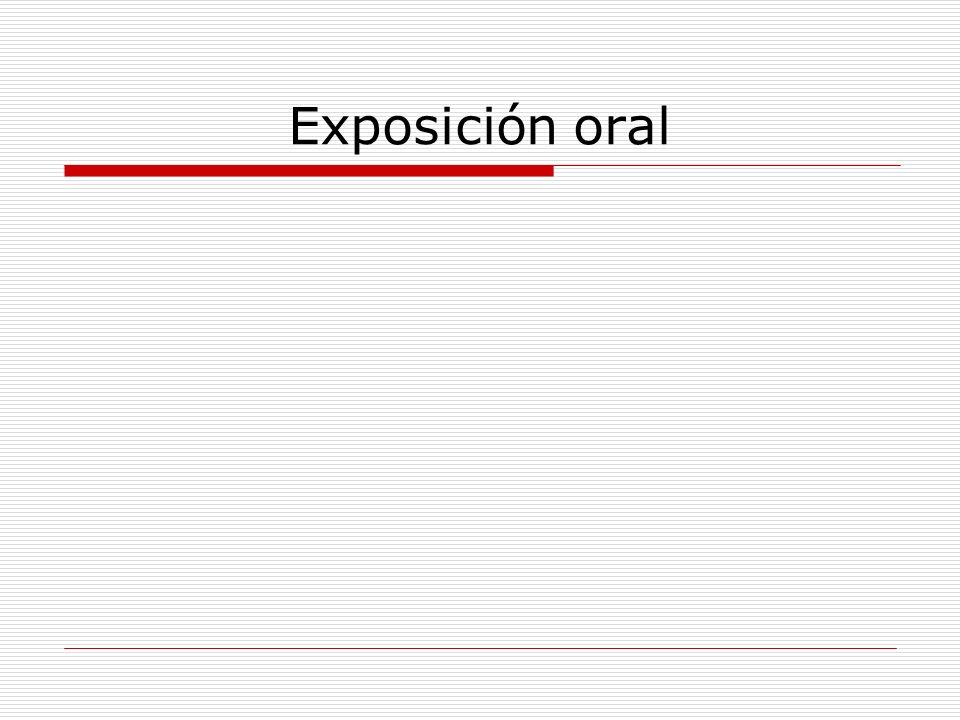 Exposición oral