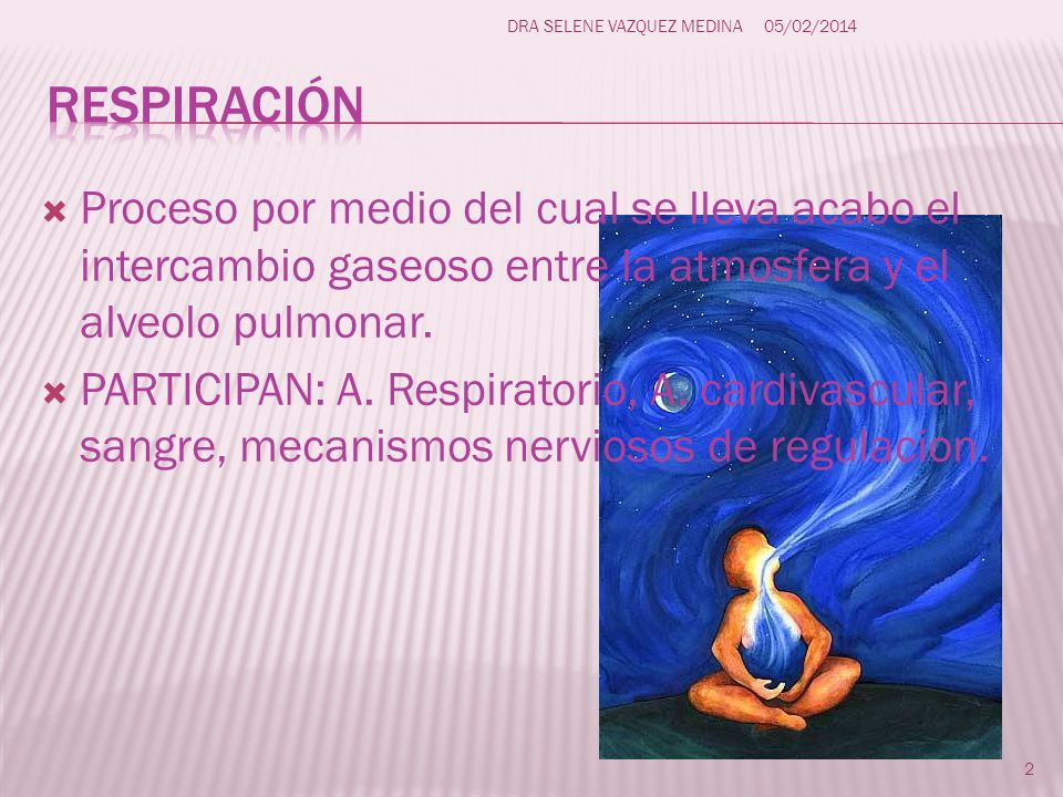 VOLUMENES Circulante (Aire corriente): Volumen de aire inspirado o espirado en cada ciclo respiratorio 500ml.