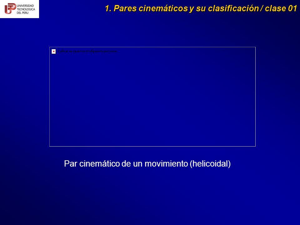 1. Pares cinemáticos y su clasificación / clase 01 Par cinemático de un movimiento (helicoidal)