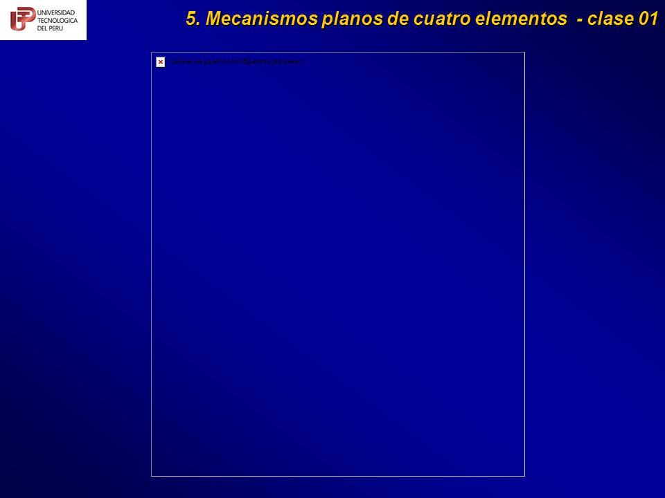 5. Mecanismos planos de cuatro elementos - clase 01