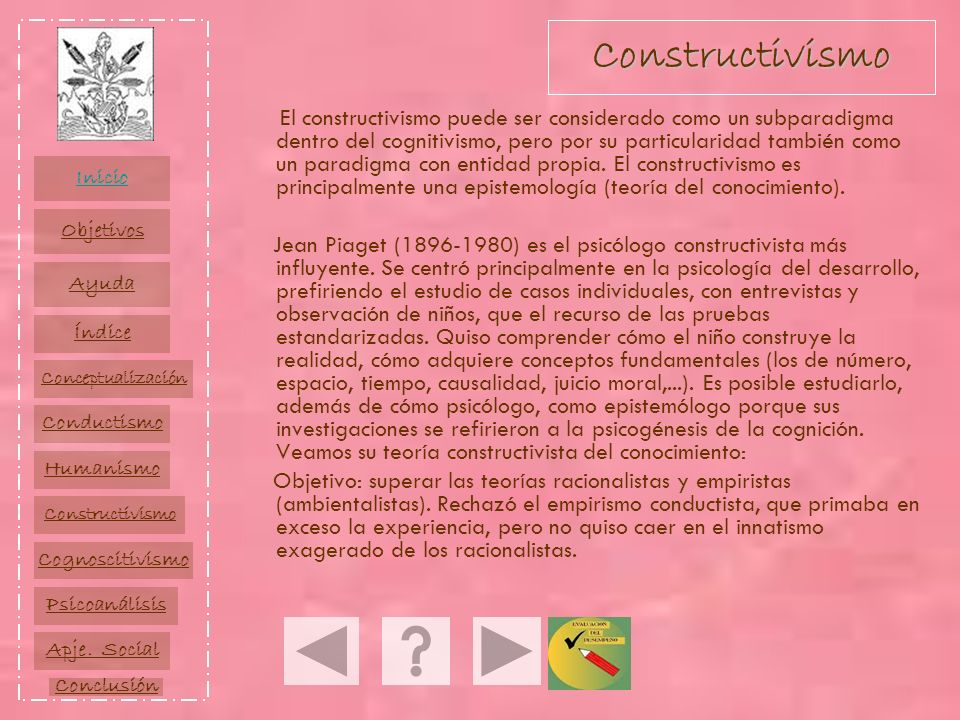 El constructivismo puede ser considerado como un subparadigma dentro del cognitivismo, pero por su particularidad también como un paradigma con entida