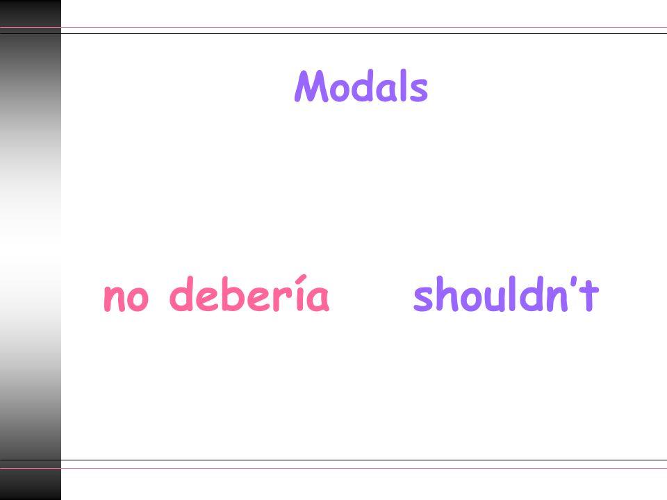 Modals no deberíashouldnt