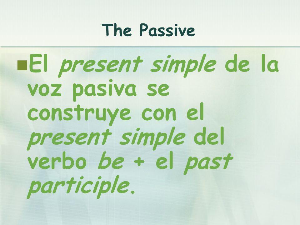 ...is + past participle......are + past participle...