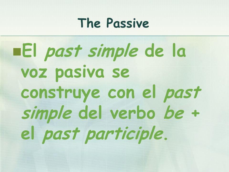 ...was + past participle......were + past participle...