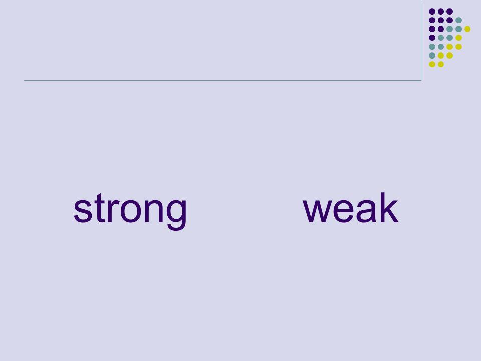 strongweak