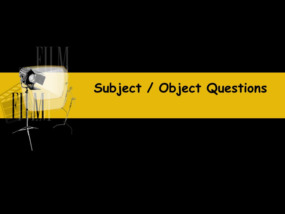 What did you buy yesterday? Object question