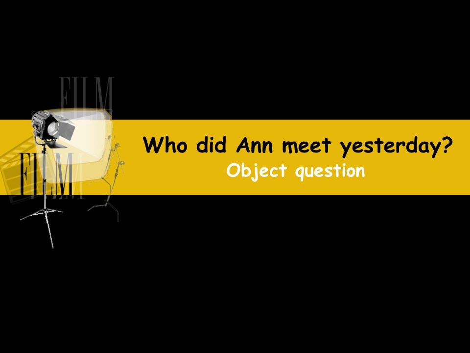 Who did Ann meet yesterday? Object question