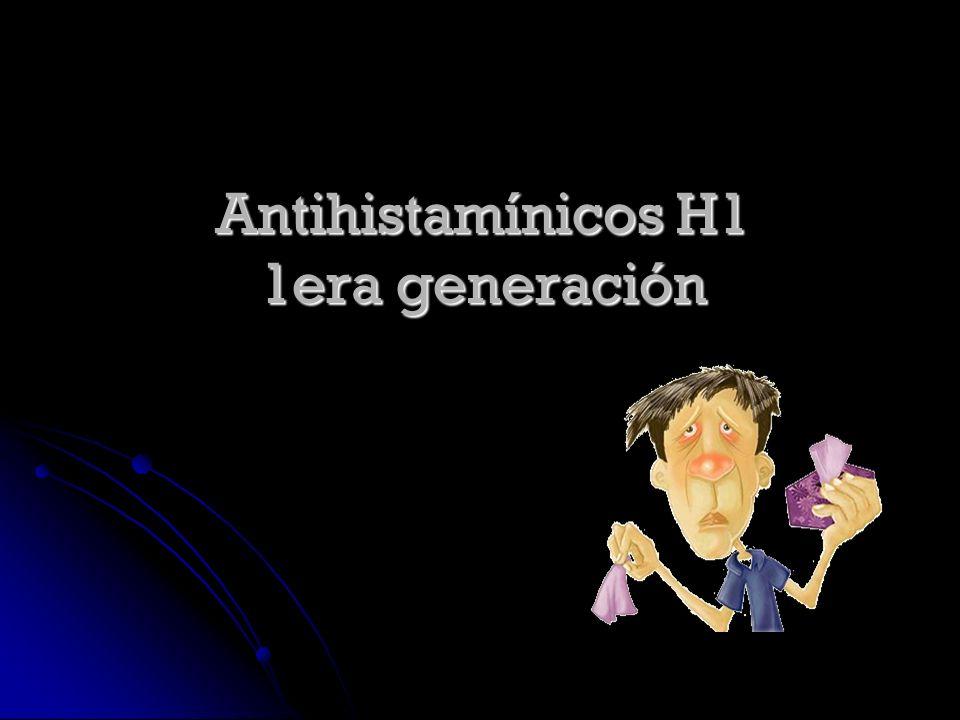Antihistamínicos H1 1era generación