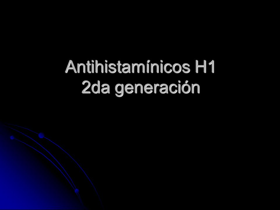 Antihistamínicos H1 2da generación