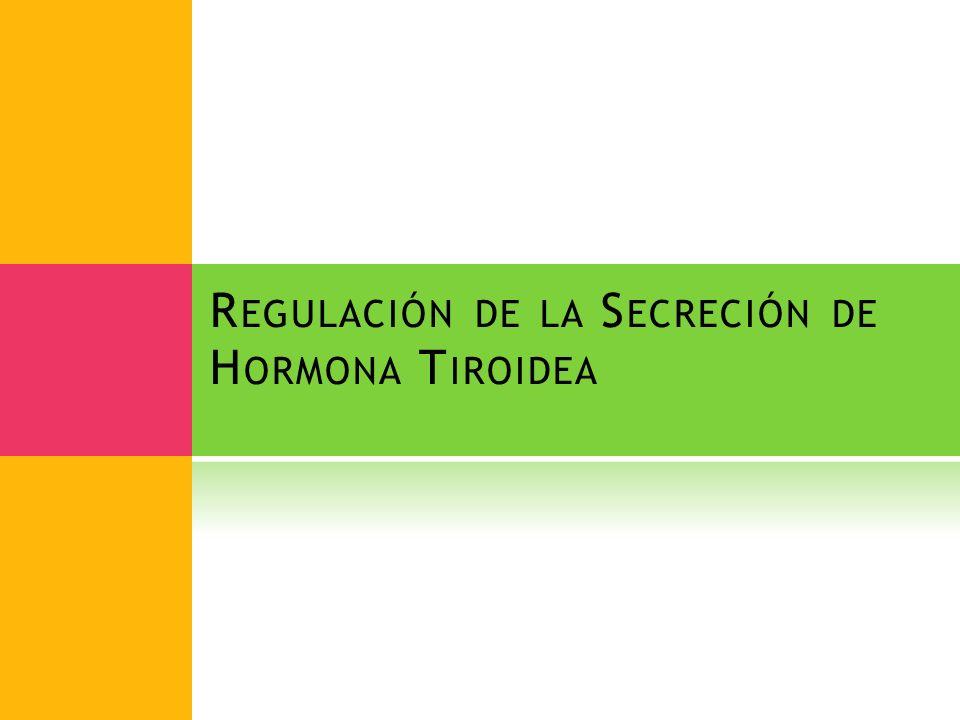 R EGULACIÓN DE LA S ECRECIÓN DE H ORMONA T IROIDEA