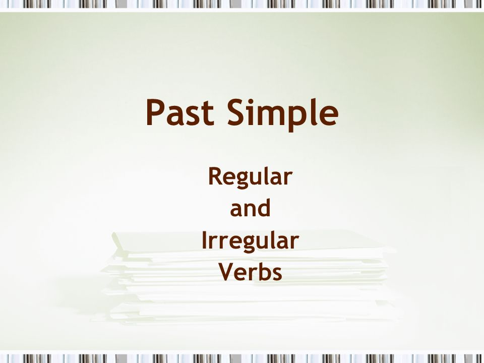 Irregular verbs InfinitivePast simplePast participleTranslation let permitir, dejar