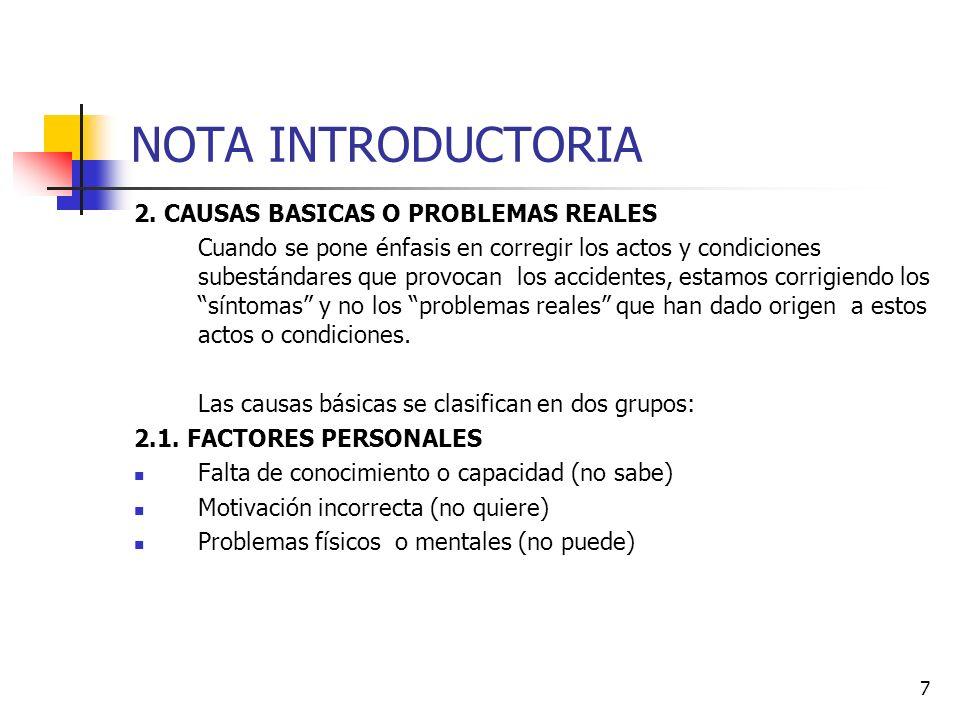 18 NOTA INTRODUCTORIA ENFERMEDAD PROFESIONAL Factores que inciden para contraerla: 1.