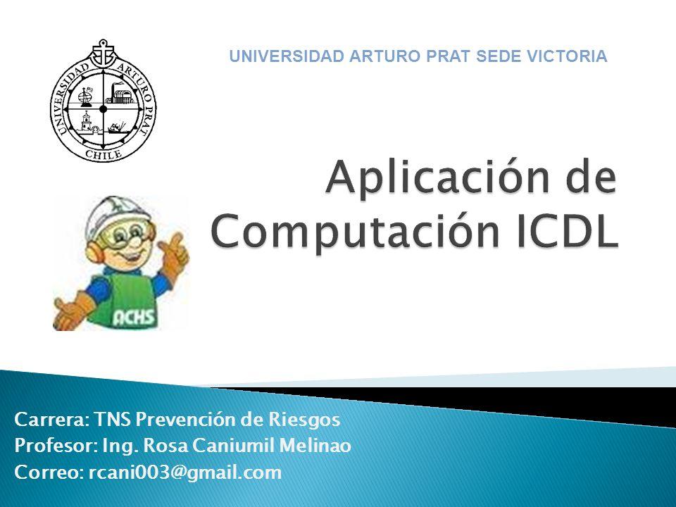 La asignatura de Aplicación de Computación ICDL I, es el principio de un set de módulos que permitirán alumno poder obtener la Licencia Digital ICDL, así los alumnos obtendrán una Licencia de validez internacional, que acredite sus competencias en el uso del computador y las principales aplicaciones computacionales.