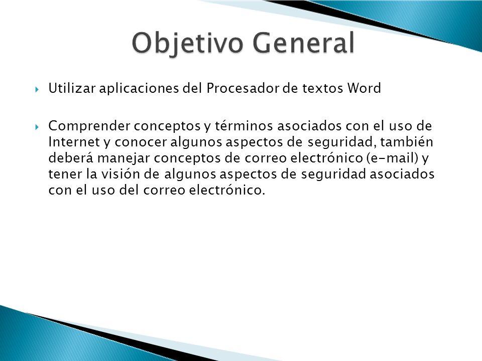 UNIDAD 1: Conceptos Básicos de la Tecnologías de la Información TI UNIDAD 2: Usos del Computador UNIDAD 3: Procesador de Textos UNIDAD 4: Información y Comunicación