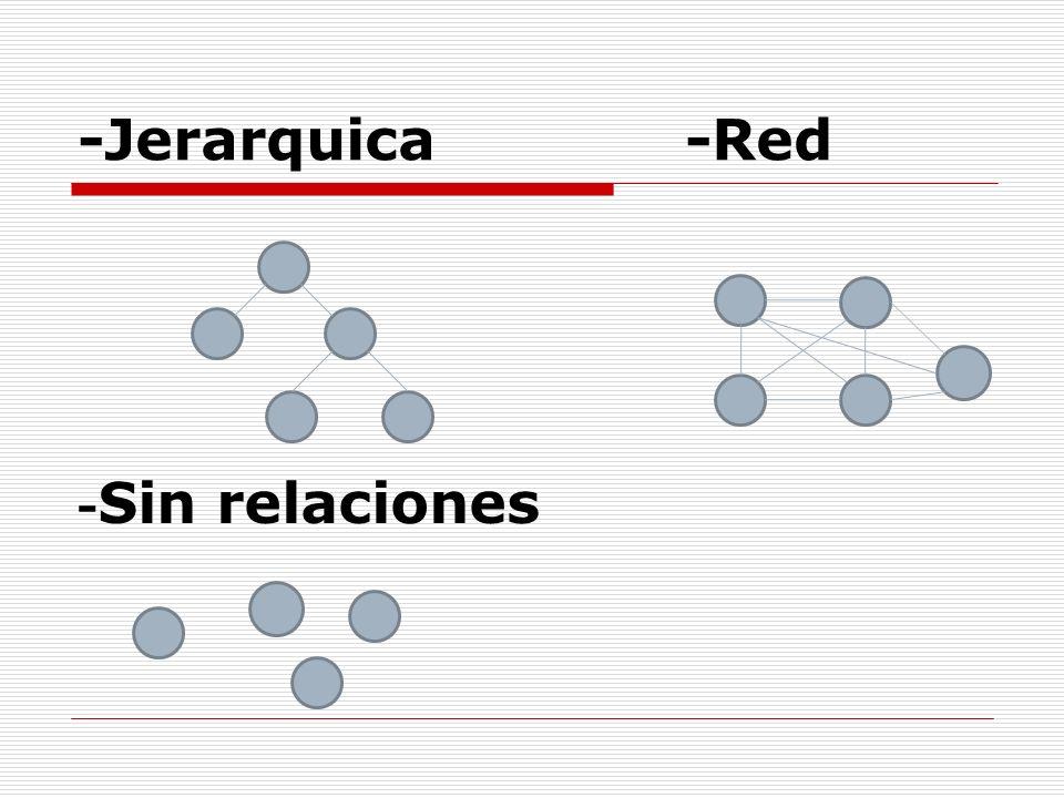 -Jerarquica -Red - Sin relaciones