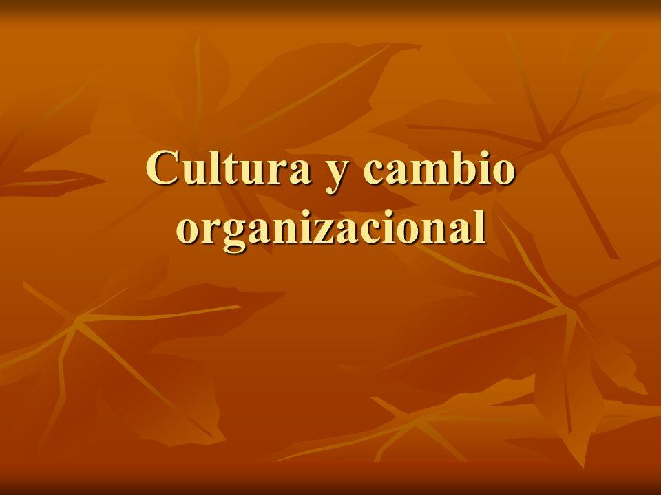 Resistencia al cambio = magnitud al cambio X fortalezas de cultura prevaleciente.