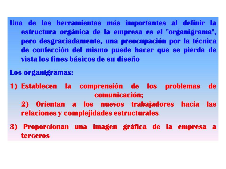 Una de las herramientas más importantes al definir la estructura orgánica de la empresa es el