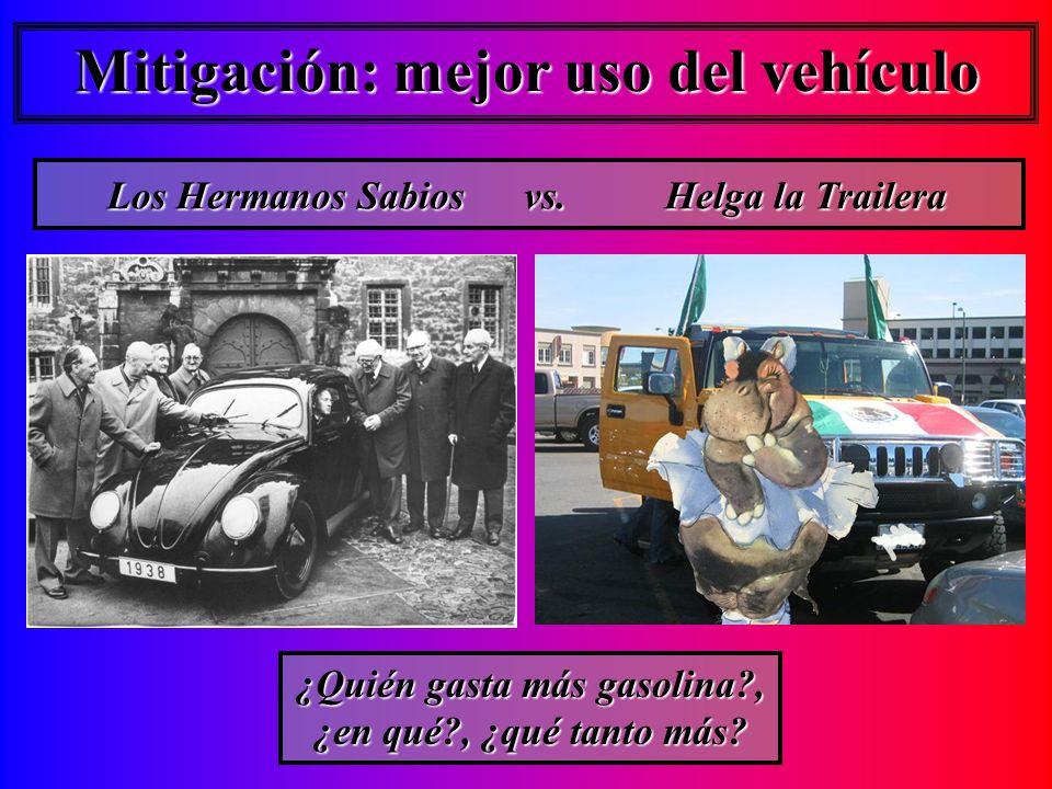 Mitigación: mejor uso del vehículo Los Hermanos Sabios vs.