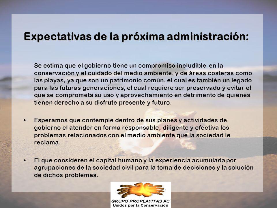 Expectativas de la próxima administración: Se estima que el gobierno tiene un compromiso ineludible en la conservación y el cuidado del medio ambiente