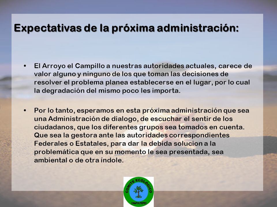 El Arroyo el Campillo a nuestras autoridades actuales, carece de valor alguno y ninguno de los que toman las decisiones de resolver el problema planea