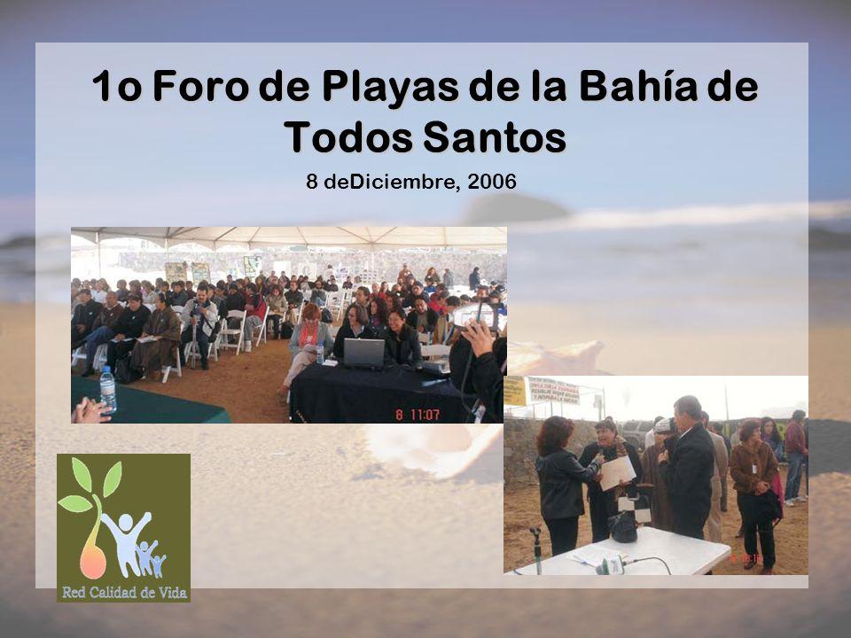 1o Foro de Playas de la Bahía de Todos Santos 8 deDiciembre, 2006