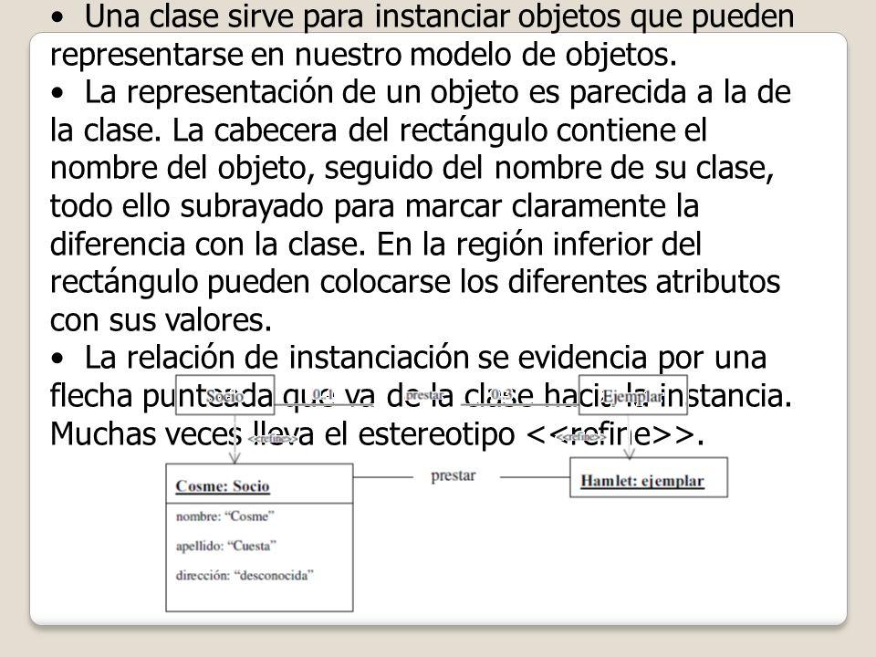 ¿Clase u Objeto? Una clase sirve para instanciar objetos que pueden representarse en nuestro modelo de objetos. La representación de un objeto es pare