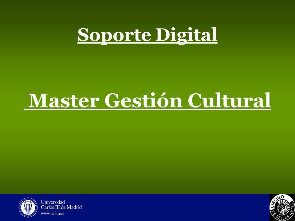 Soporte Digital Master Gestión Cultural