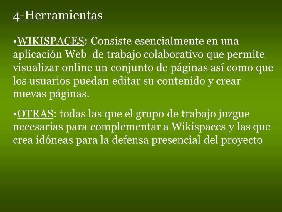 WIKISPACES: Consiste esencialmente en una aplicación Web de trabajo colaborativo que permite visualizar online un conjunto de páginas así como que los