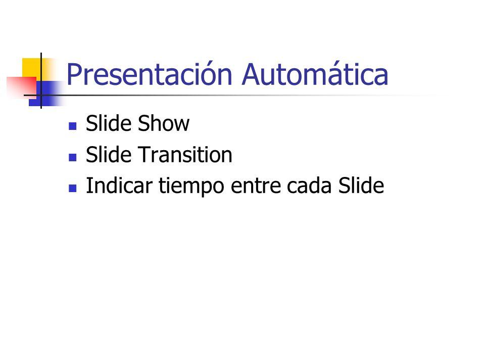 Animación Slide Show Preset Animation Seleccionar