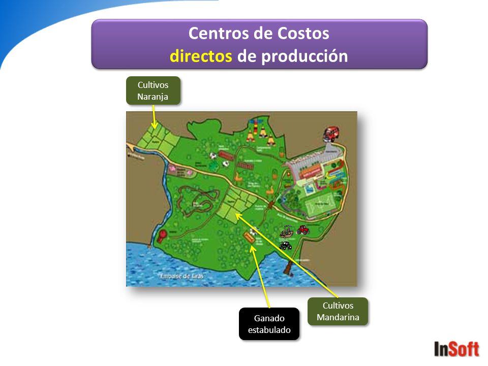 Cultivos Mandarina Cultivos Naranja Ganado estabulado Centros de Costos directos de producción