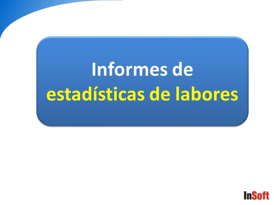 Informes de estadísticas de labores