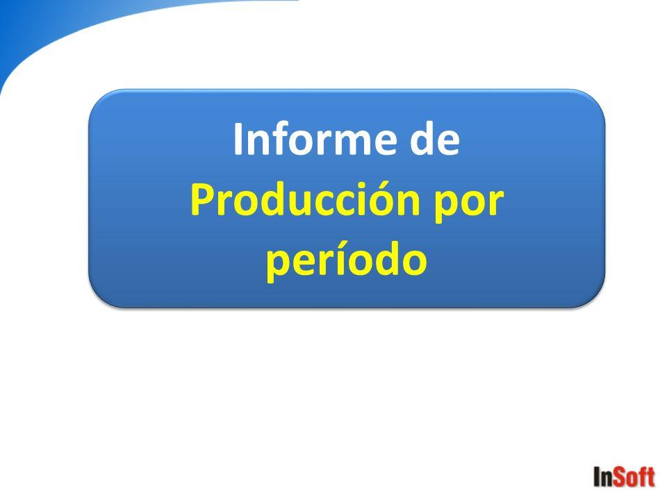 Informe de Producción por período Informe de Producción por período