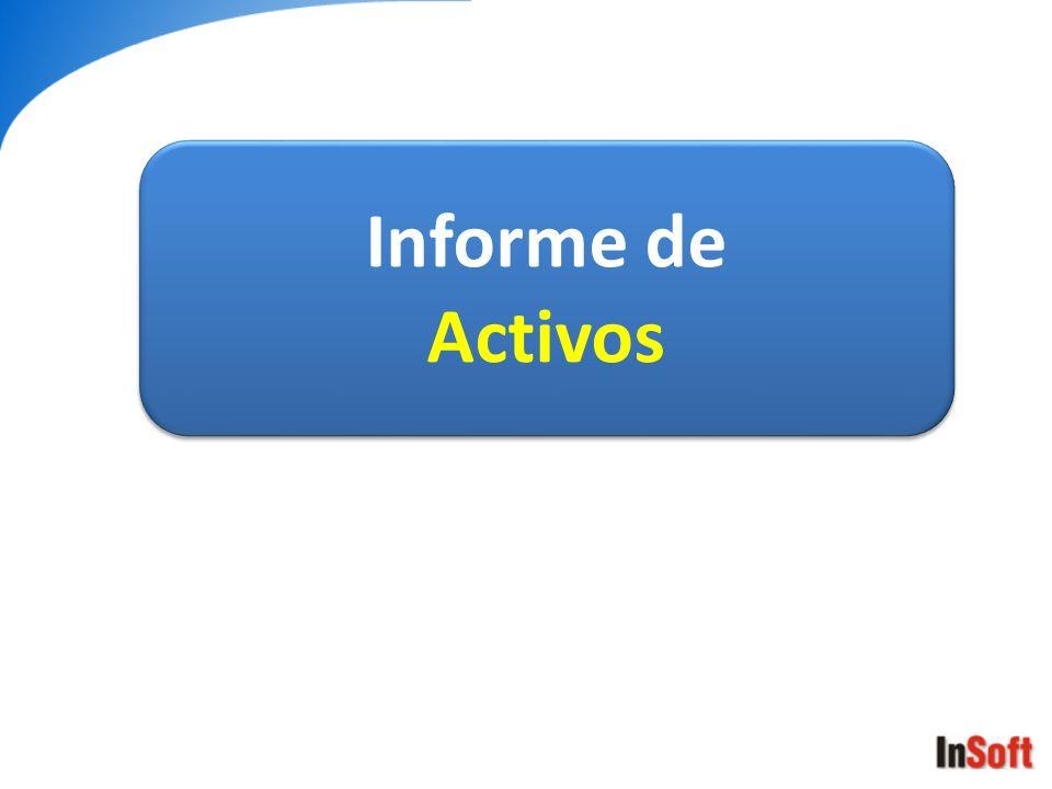 Informe de Activos Informe de Activos