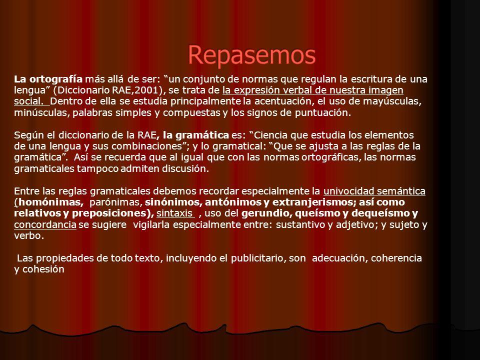 La ortografía más allá de ser: un conjunto de normas que regulan la escritura de una lengua (Diccionario RAE,2001), se trata de la expresión verbal de