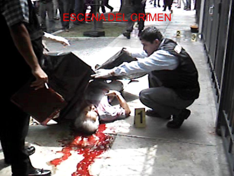 LA ESCENA DEL CRIMEN LA ESCENA DEL CRIMEN ES LA FUENTE DE INFORMACION DEL PERITO Y PESQUISA; CONSECUENTEMENTE ES EL LUGAR DONDE SE HA PRODUCIDO UN HEC