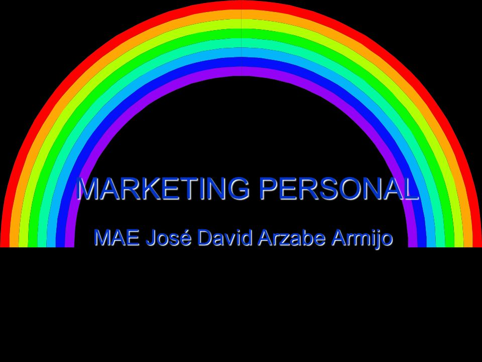 MARKETING PERSONAL MAE José David Arzabe Armijo