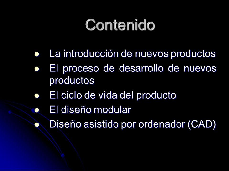 Contenido La introducción de nuevos productos La introducción de nuevos productos El proceso de desarrollo de nuevos productos El proceso de desarroll