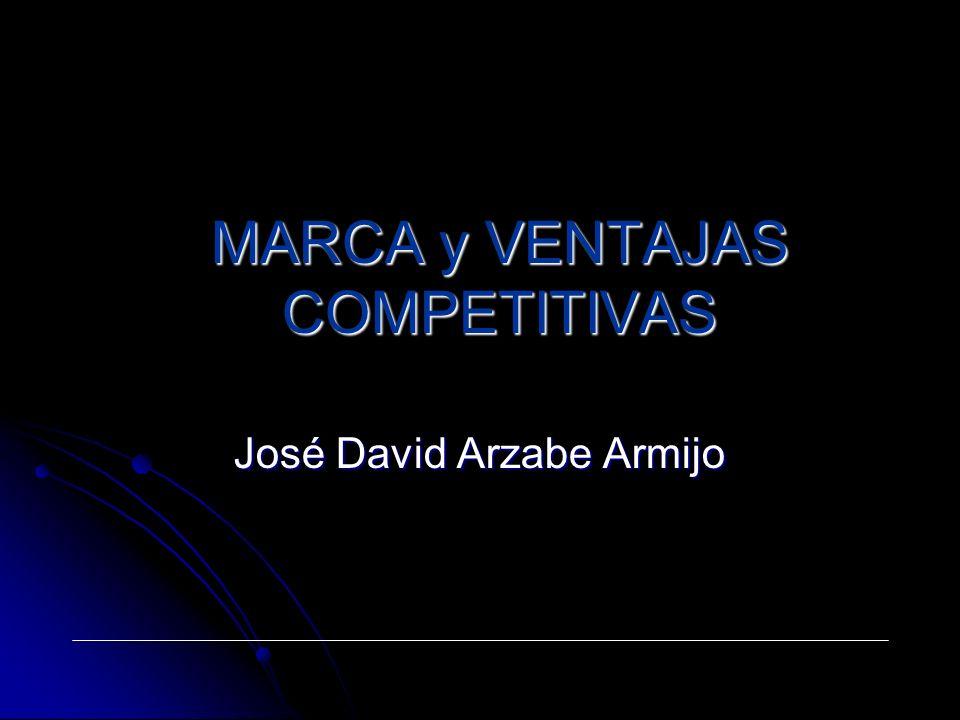 MARCA y VENTAJAS COMPETITIVAS José David Arzabe Armijo